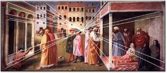 Brunelleschi's friend Masolino, begins to paint using one point perspective: The Rise of Renaissance Perspective