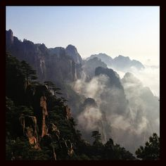 Huangshan Mountain 黄山 in Huangshan, China 安徽