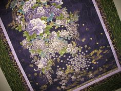 Floral Wall Hanging focus fabric from Robert by PicketFenceFabric, $49.95