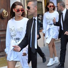 "527 Me gusta, 1 comentarios - Hadids And Jenner News (@hadids.jenner) en Instagram: ""May 24: Bella out in Rome. #bellahadid"""