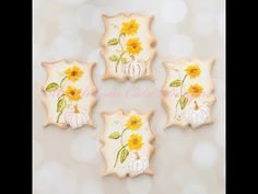 How to Create Vintage Paper Doll Cookies on Royal Icing - YouTube