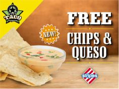 FREE Chips & Queso at Stripes Stores on http://www.icravefreebies.com/