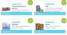 New Coupons: V8, Campbell's, Post Cereals, Excedrin