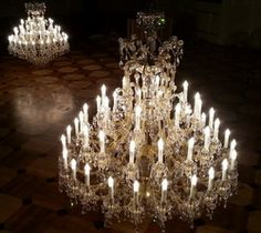 Luxurious Mary Therese #chandeliers by ArtGlass #MariaTheresaChandelier