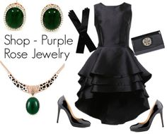 """Shop - Purple Rose Jewelry"" by ladymargaret on Polyvore"