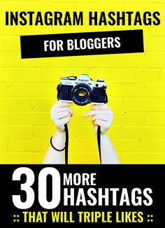 30 More Instagram Hashtags for Bloggers That Will Triple Likes | Venus Trapped in Mars | Bloglovin'