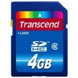 Transcend 4 GB Class 6 SDHC Flash Memory Card TS4GSDHC6 (Personal Computers)By Transcend