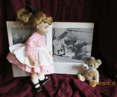 "MA ""Edith, the Lonely Doll"" and Book and Little Bear Set"