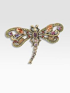 Jay Strongwater - Crystal Dragonfly Pin/Small - Saks.com