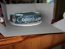 Copenhagen Cake. I don't condone the use of tobacco, just filled a cake order.