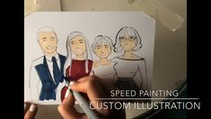 Speed painting a custom family portrait Speed Paint, 3d Drawings, Family Portraits, Tube, Channel, Family Guy, Videos, Illustration, Painting