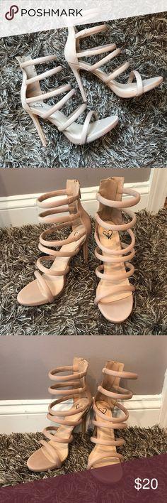 Nude Heels Strappy Sandals Nude Heels From Windsor Size 7.5 Make me an offer!! Windsor Shoes Heels