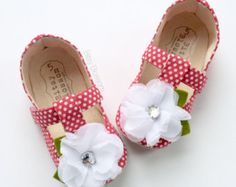 Polka Dot Baby Shoes Toddler Shoes Baby Girl Shoes Soft Sole Shoes Infant Shoes…