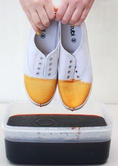 #diy dip dye shoes