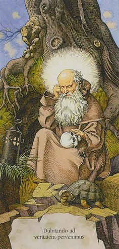 The Hermit: Tarot of Dürer by Gaudenzi