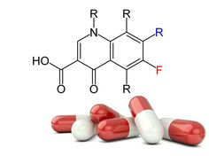 The basic chemical structure of fluoroquinolone antibiotics such as Avelox, Cipro and Levaquin. Photo credit: Medscape