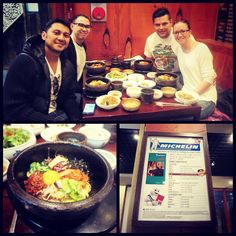 Went to insadong to eat the best bibimbap in town apparently... Place is called gogung... Funny part was that i think the resto mistakenly got a thumbs up michelin star from the michelin man hehe...  Only in #seoul #korea