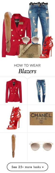 """""""Untitled #766"""" by stylebywho on Polyvore featuring Balmain, Marni, Chanel, Giuseppe Zanotti and Christian Dior"""