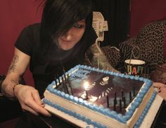 Jinxx of Black Veil Brides did anyone notice the placement of the candle? xD