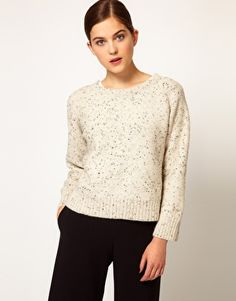 Enlarge Rachel Comey Crew Neck Pull Over with Gold Print