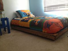 Platform bed for my toddler | Do It Yourself Home Projects from Ana White