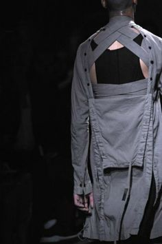 Boris Bidjan Saberi ss12 - interesting criss-crossed detail at the back neck