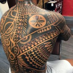 Tribal Back Tattoos - Discover The Best Back Tattoos For Men - Cool Back Tattoo Designs and Ideas For Guys - Unique Lower, Upper, and Full Back Back Tattoos Back Of Neck Tattoo Men, Small Back Tattoos, Cool Back Tattoos, Upper Back Tattoos, Back Tattoos For Guys, Chest Tattoo Abstract, Tribal Chest Tattoos, Full Chest Tattoos, Tribal Tattoos For Men