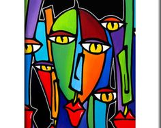 picasso masks cubism in clay - Google Search