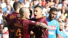 LA ROMA BATTE IL NAPOLI. ECCO L'ANTI JUVE la Roma è ufficialmente l'anti Juventus. I giallorossi scippano il secondo posto al Napoli grazie alla bella doppietta di Dzeko, che firma un gol per tempo: il vantaggio, arrivato sul tramonto del pr #juve #roma #napoli #juventus