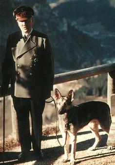 With Blondi, 1944