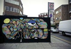 Hackney Road by KEF! - Installation done by German Street Artist in London