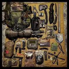 Finally getting my hiking stuff together. Gear layout by the following brands, @alphaoutpost  @gruntstyle @superessestraps  @tactikey  @whoiscitizene @riteintherain  @tacticaltailor  @hazard4california  @ust_survival  @bushnell_official  @kershawknives @buckknives  @victorinoxswissarmy  @rainierarms @gerbergear  @gearaid  @offthegridguide  @olightworld  @ucogear  Share from @ghosttopher