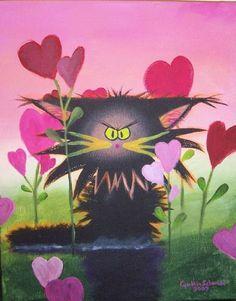 Cranky Valentine's Cat