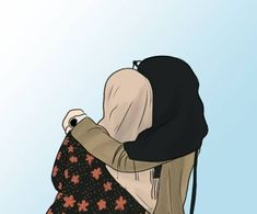 Me & my sissy😆 Cute Cartoon Girl, Cartoon Art, Tmblr Girl, Cover Wattpad, Sarra Art, Hijab Drawing, Friend Cartoon, Islamic Cartoon, Anime Muslim