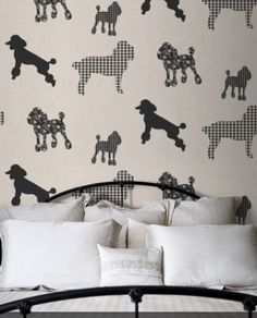 Poodle Wallpaper! Dog lovers, you'll want to follow Cynthia Waldenmaier on Pinterest. She's come across some really fun stuff.