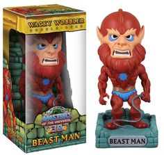Masters of the Universe Wacky Wobbler Wackelkopf-Figur Beast Man 15 cm