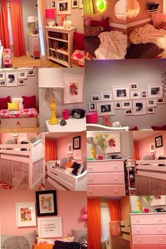 "Pink and orange ""big girl"" room - design by Busybee Design in Philadelphia"