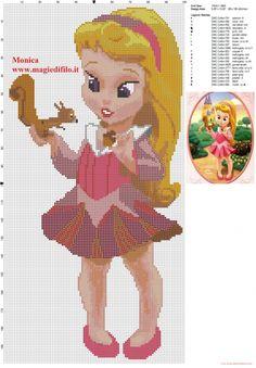 Schema punto croce piccola principessa Aurora (click to view)