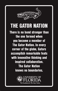 The Gator Nation is everywhere. Go Gators!