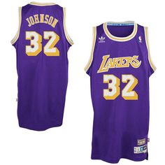 be36e3b92e Magic Johnson Los Angeles Lakers adidas Hardwood Classics Swingman Jersey -  Purple