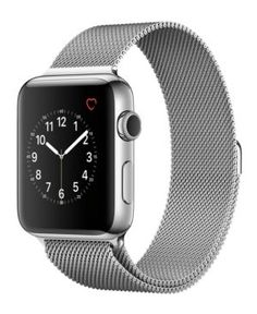 Apple Watch Series 2 42mm Stainless Steel Case with Silver-Tone Milanese Loop - Gray