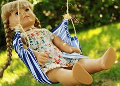 DIY Hammock Swing for American Girl Dolls