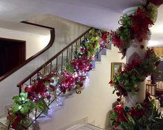 Christmas 2019, Christmas Wreaths, Christmas Decorations, Holiday Decor, Christmas Staircase, Picnics, Tea Party, Stairs, Decorating