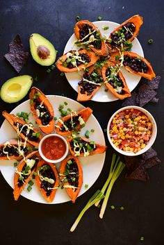 Loaded Black Bean Sweet Potato Boats @Dana Curtis Shultz | Minimalist Baker