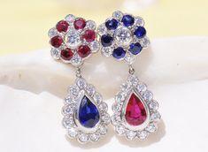 Ruby Earrings, Ear Rings, Jewelry, Ruby Stud Earrings, Earrings, Jewlery, Jewerly, Ear Piercings, Schmuck