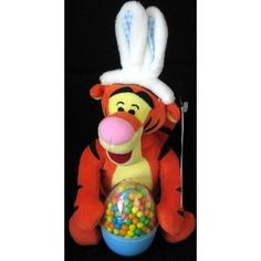 Easter Tigger with Bunny Ears and Fillable Egg (Toy)