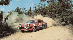 .Per Eklund and Silvan Hans ..TR8 .. 1979 San Remo rally DNF>engine