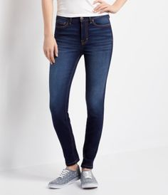 Seriously Stretchy High-Waisted Dark Wash Ankle Jegging - Aéropostale®