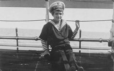 Tsarevich Alexei Nikolaevich Romanov of Russia in 1914 on board the Imperial royal yacht,The Standart.A♥W