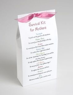 Survival Kit.... cute for a baby shower gift!